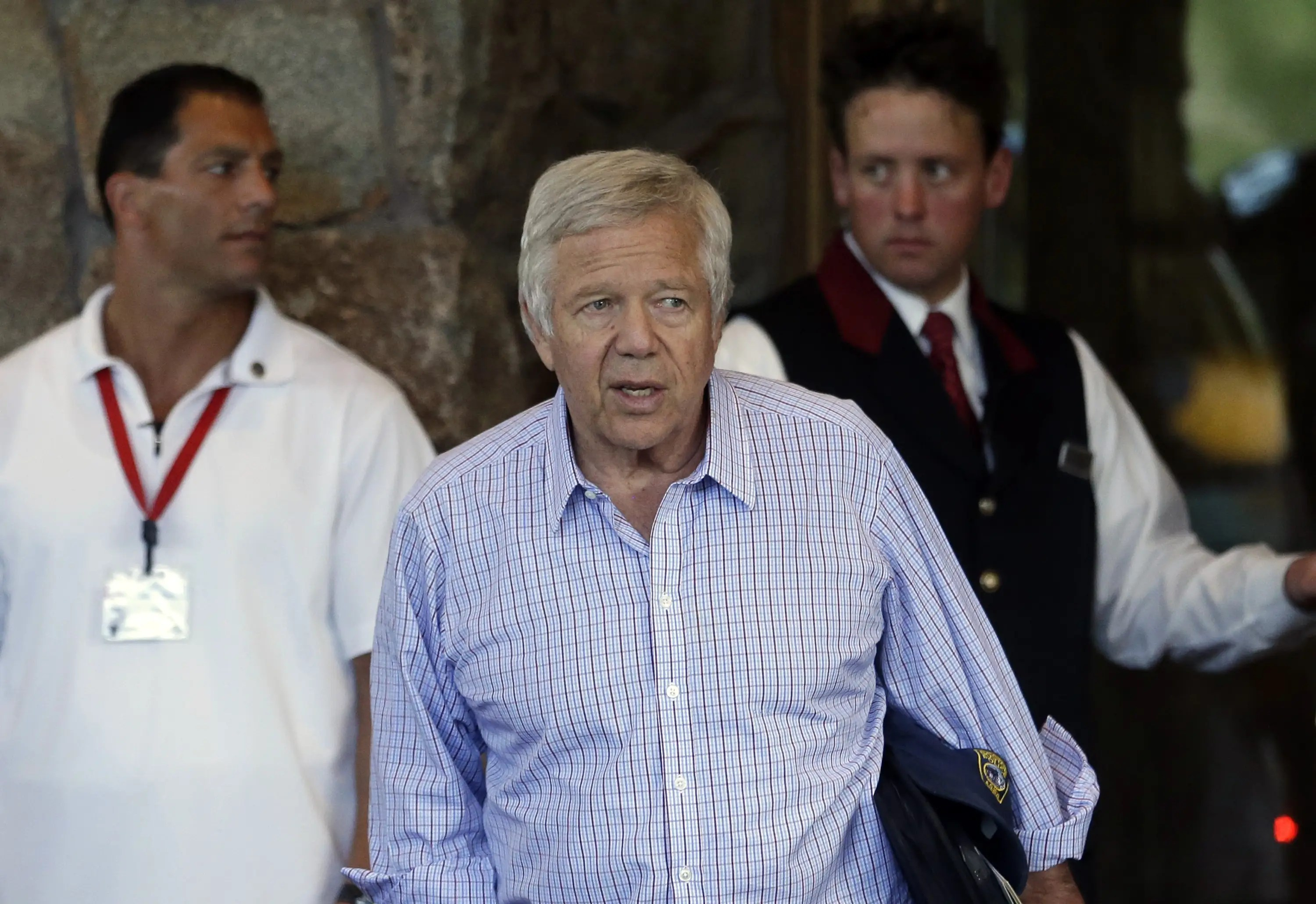 Patriots owner Robert Kraft is probably going to get a lot of questions about Aaron Hernandez.