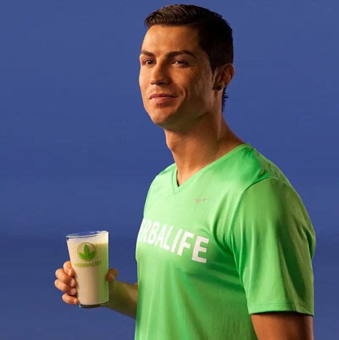 He also has deals with companies like Herbalife, Castrol, and Samsung.