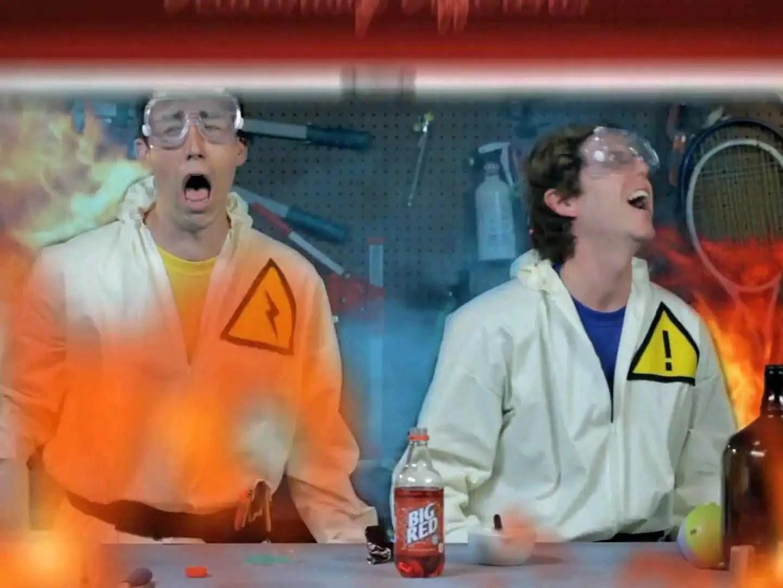 scientist experiment lab blow up
