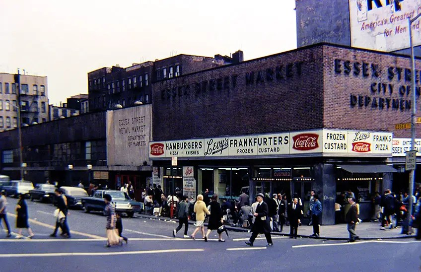 1968: The Lower East Side's Essex Street Market was built in the 1930s to house street cart vendors.