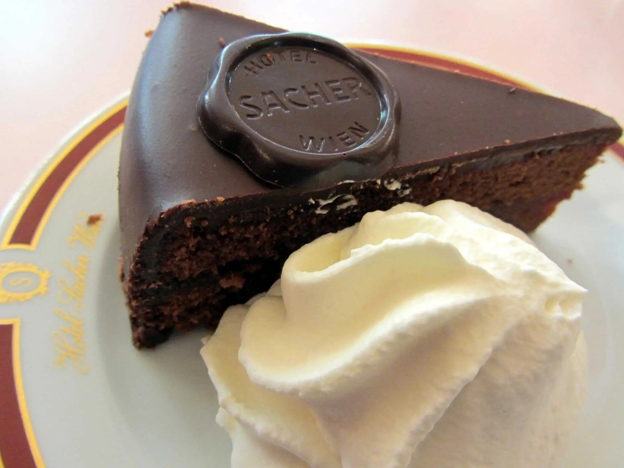 Savor a rich chocolatey Sachertorte in Vienna, Austria.
