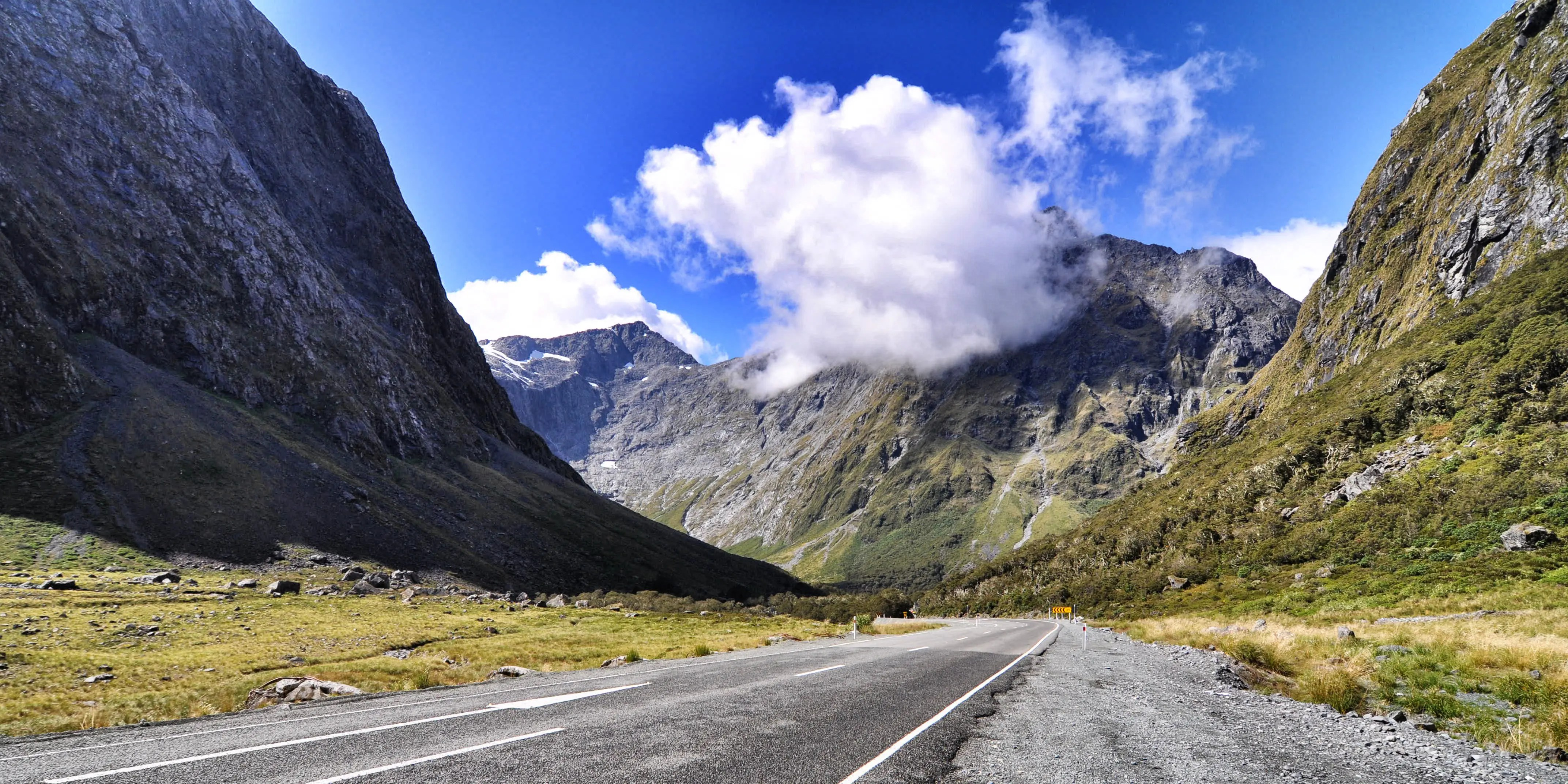 "The Milford Road in New Zealand winds for 144 miles through Fiordland National Park, in the heart of the Southern Alps. It also connects to Milford Sound, one of the filming locations for the ""Lord of the Rings"" trilogy."