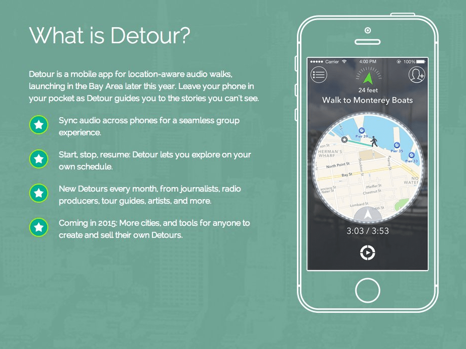 Detour is a new way to experience location-based storytelling.