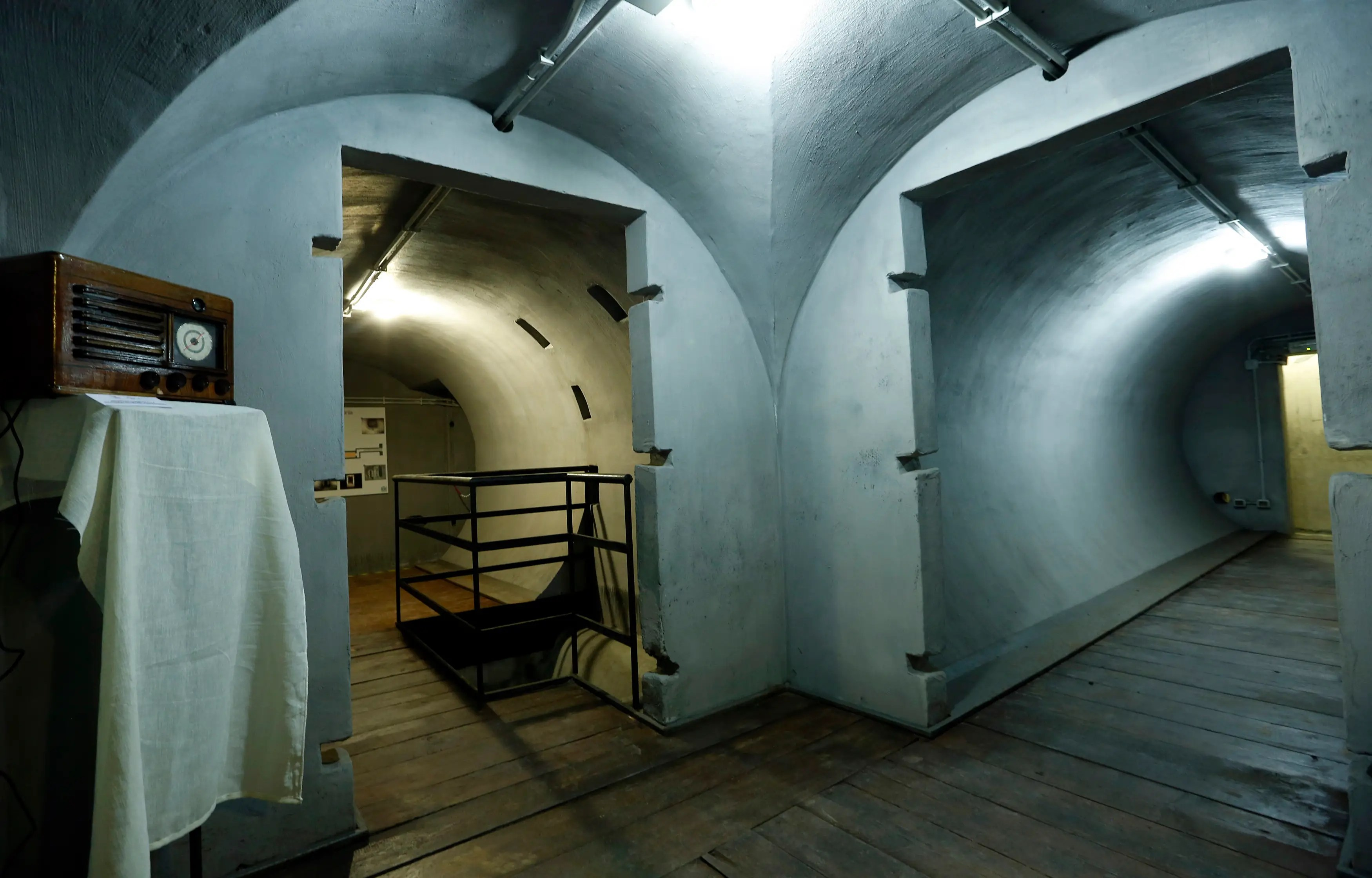 The bunker is located below Villa Torlonia, the Roman residence of Mussolini since 1922. It's just a short walk from the Colosseum.
