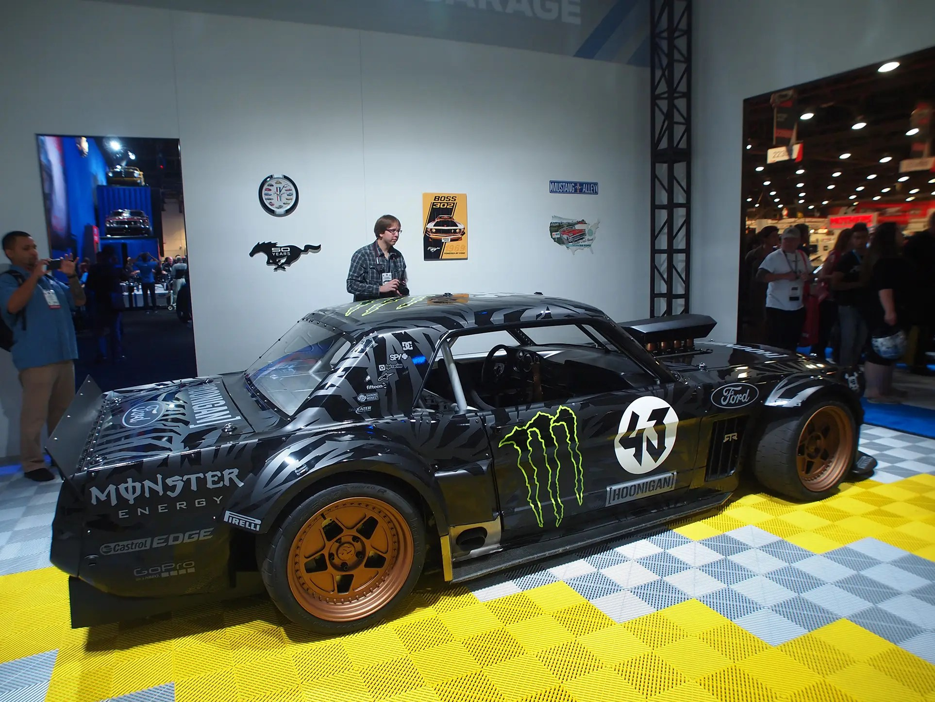 Here's Ken Block's Mustang from another angle.
