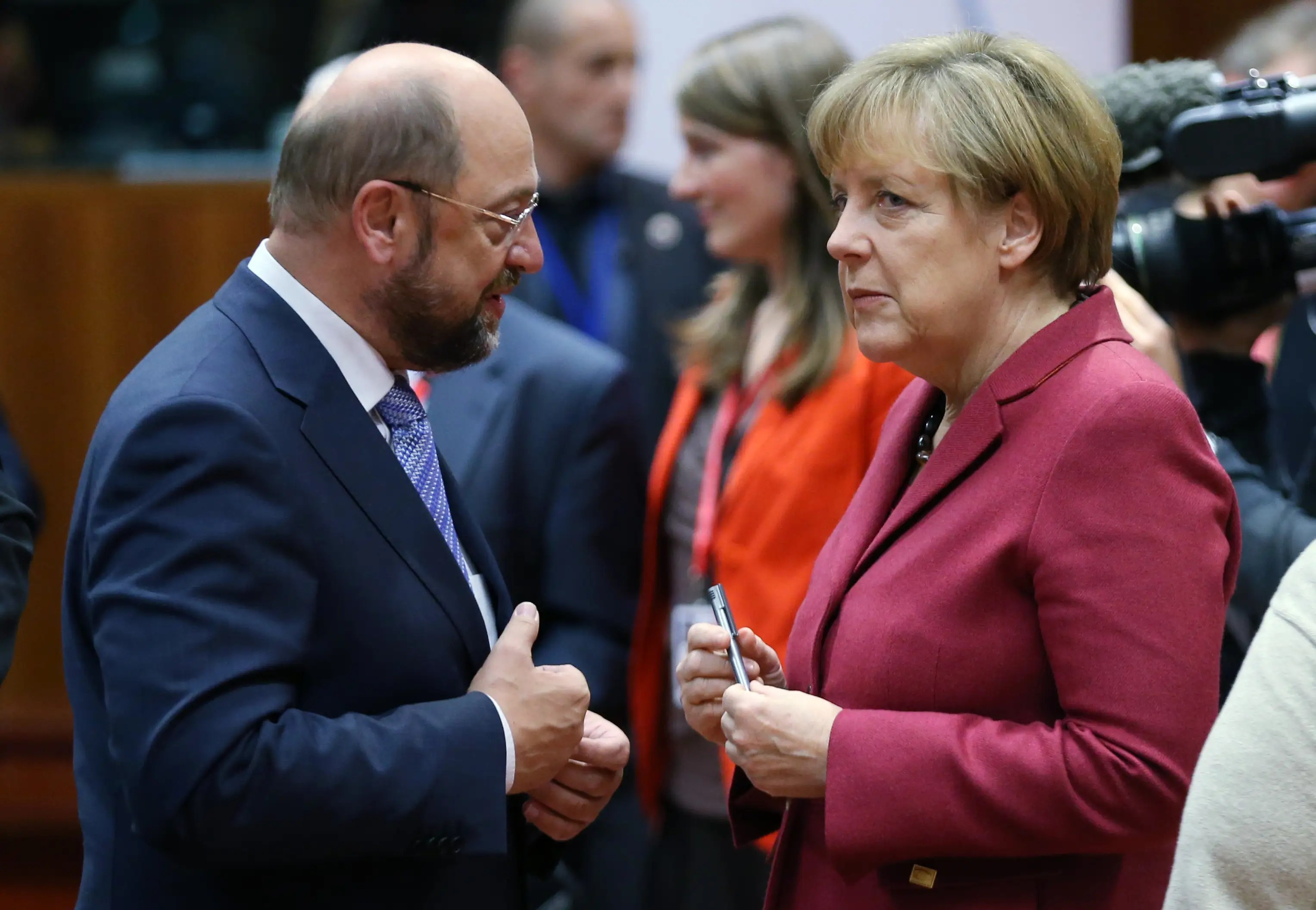 Image result for Martin Schulz and angela merkel, photos