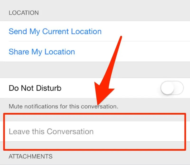 Leave a group conversation.