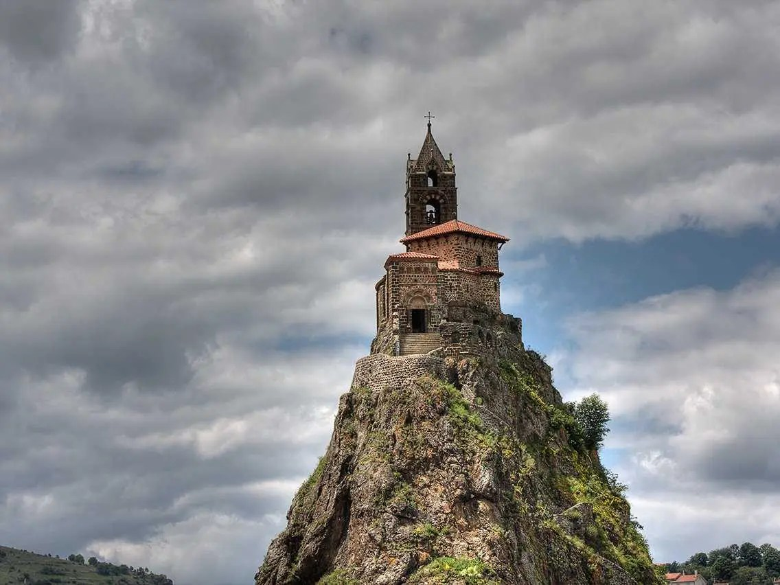 Climb the 268 steps to reach the historic Saint-Michel D'aiguille Chapel, which was built in the year 962 and sits atop a volcanic structure.