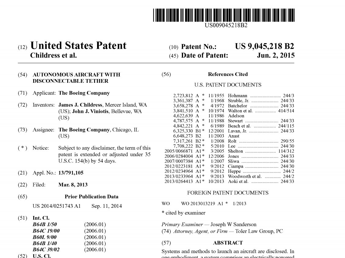 Boeing Drone Patent