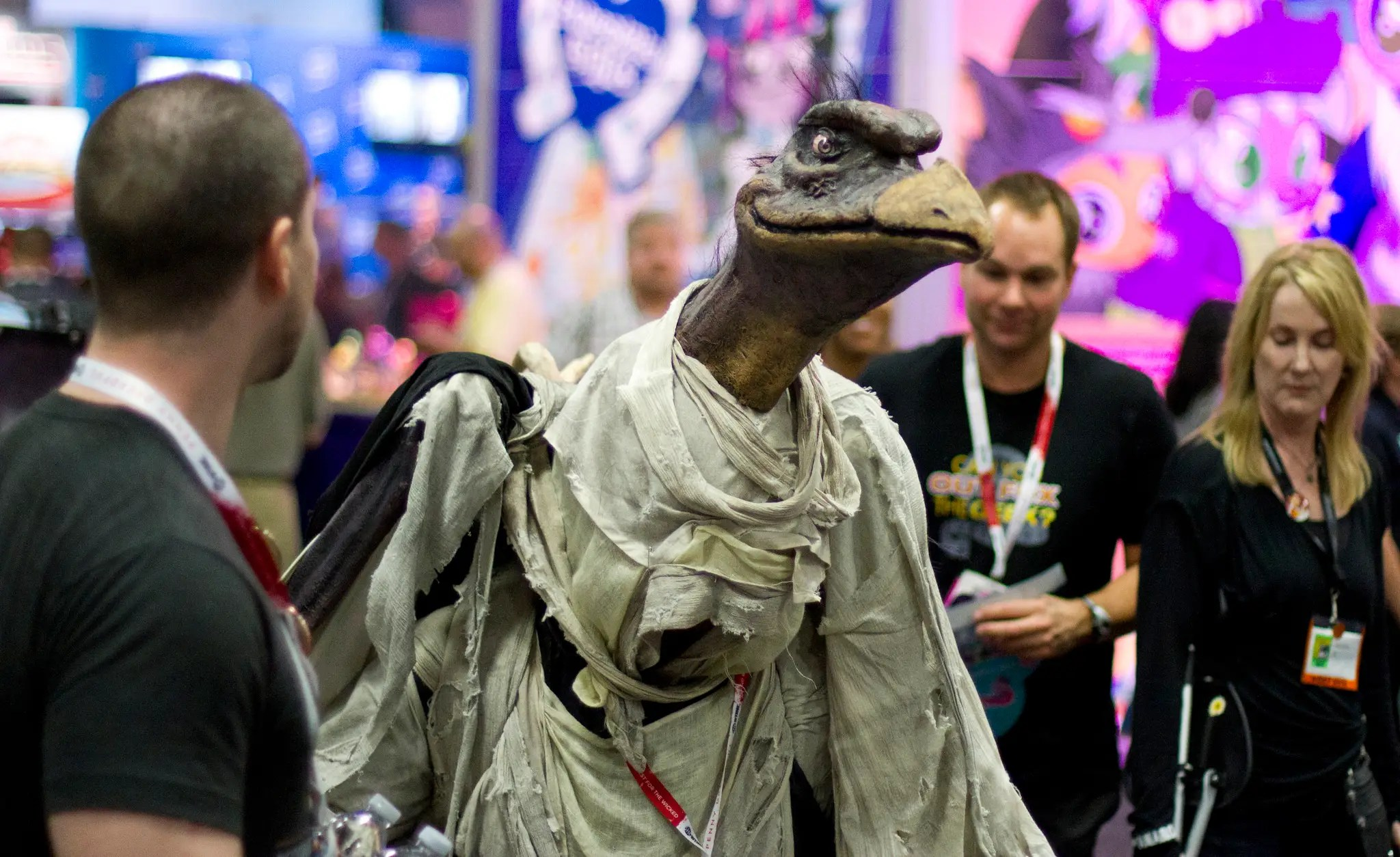 A reptilian Skeksis from the 1982 film