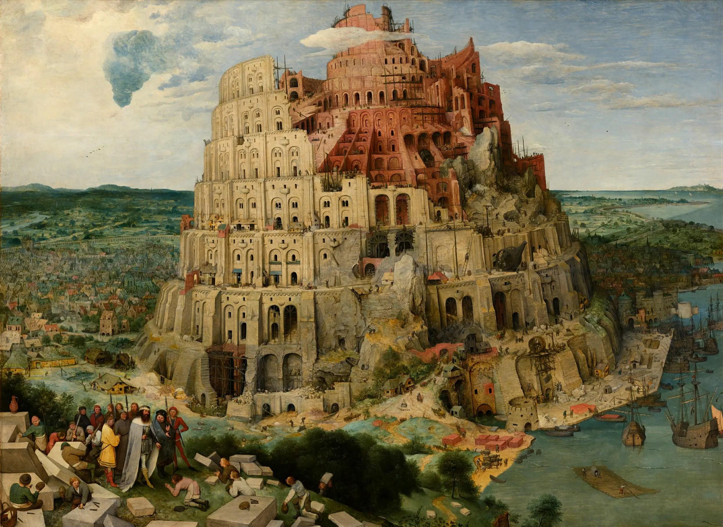 Pieter Bruegel, la «Babel Tower» de l'Ancien, au musée Kunsthistorisches de Vienne, en Autriche.