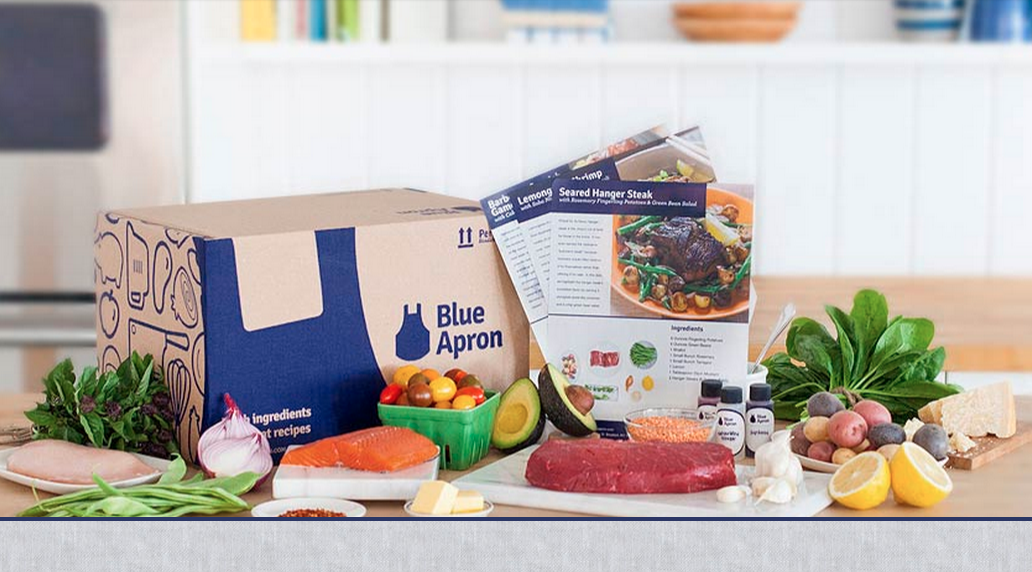 Blue Apron will send you meals to make.