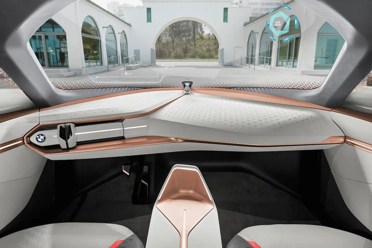 The steering wheel will retract into the dashboard when the car is in autonomous mode.