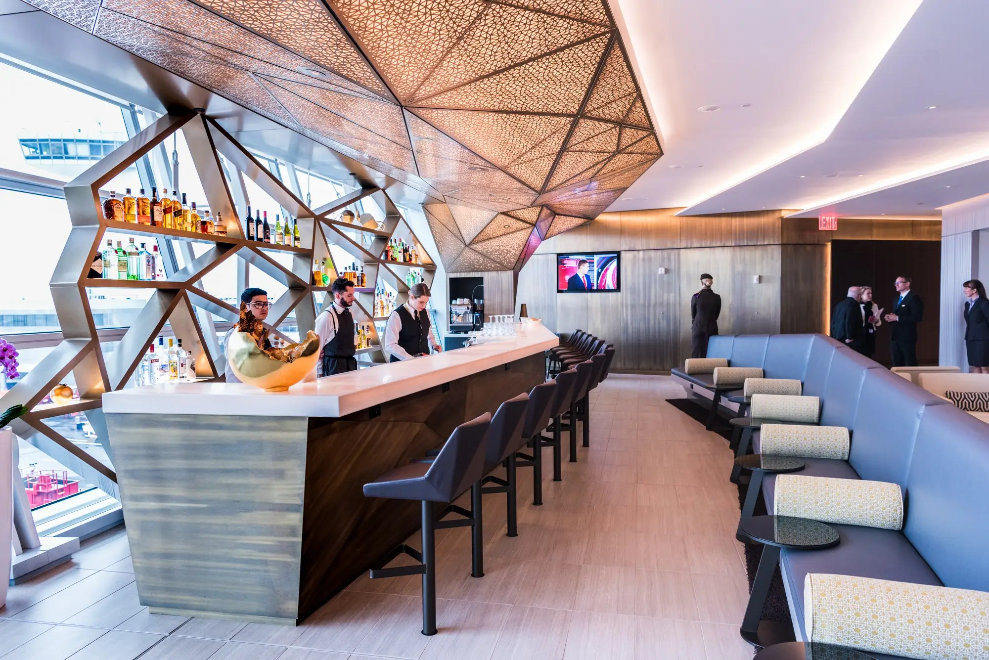 In addition to Etihad's own passengers, the lounge is also available for premium cabin passengers flying with equity partner Air Serbia.