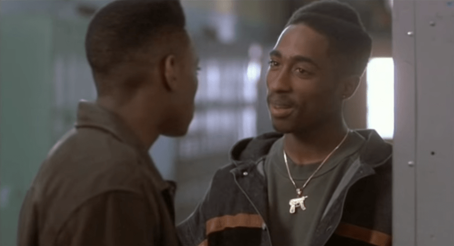 """Shakur had his first starring role in the 1992 New York City crime thriller """"Juice,"""" acting alongside Omar Epps, Samuel L. Jackson, and Queen Latifah."""