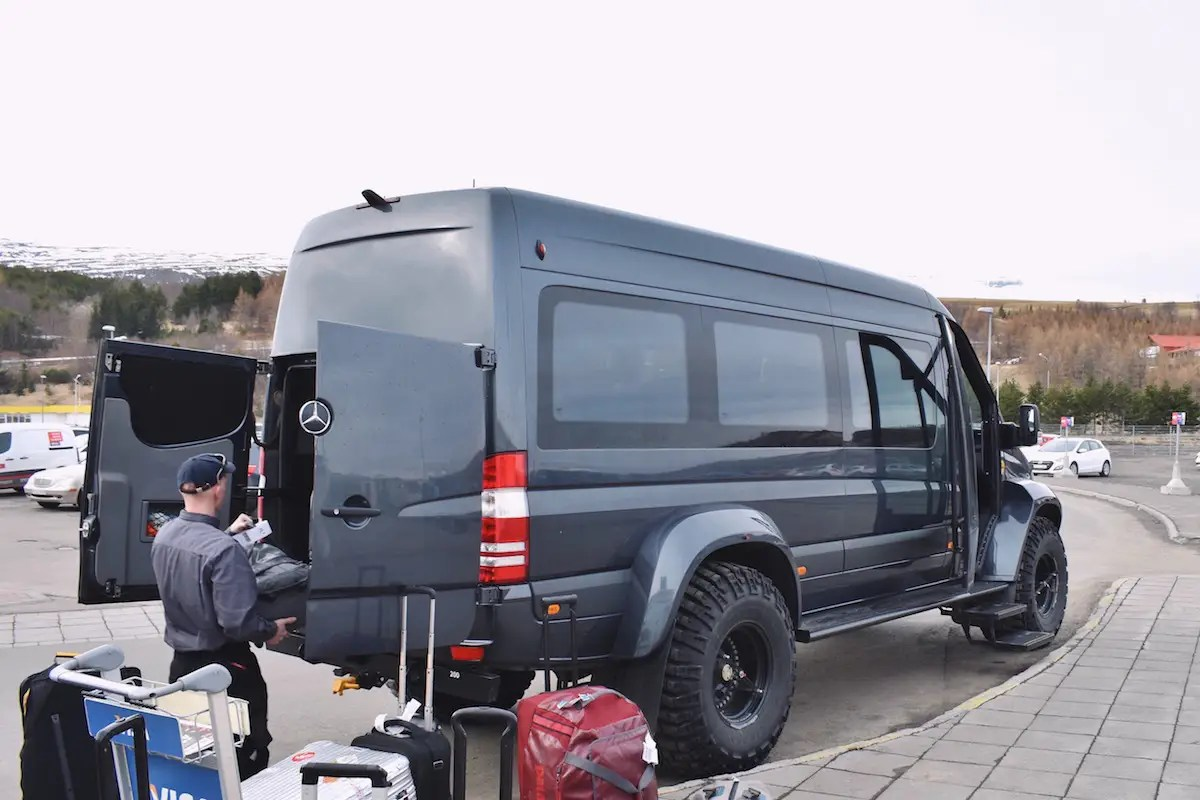 Upon arrival, he and his fellow travelers piled into the all-terrain Mercedes Sprinter. Made by Arctic Trucks, this specialized vehicle costs about $275,000.