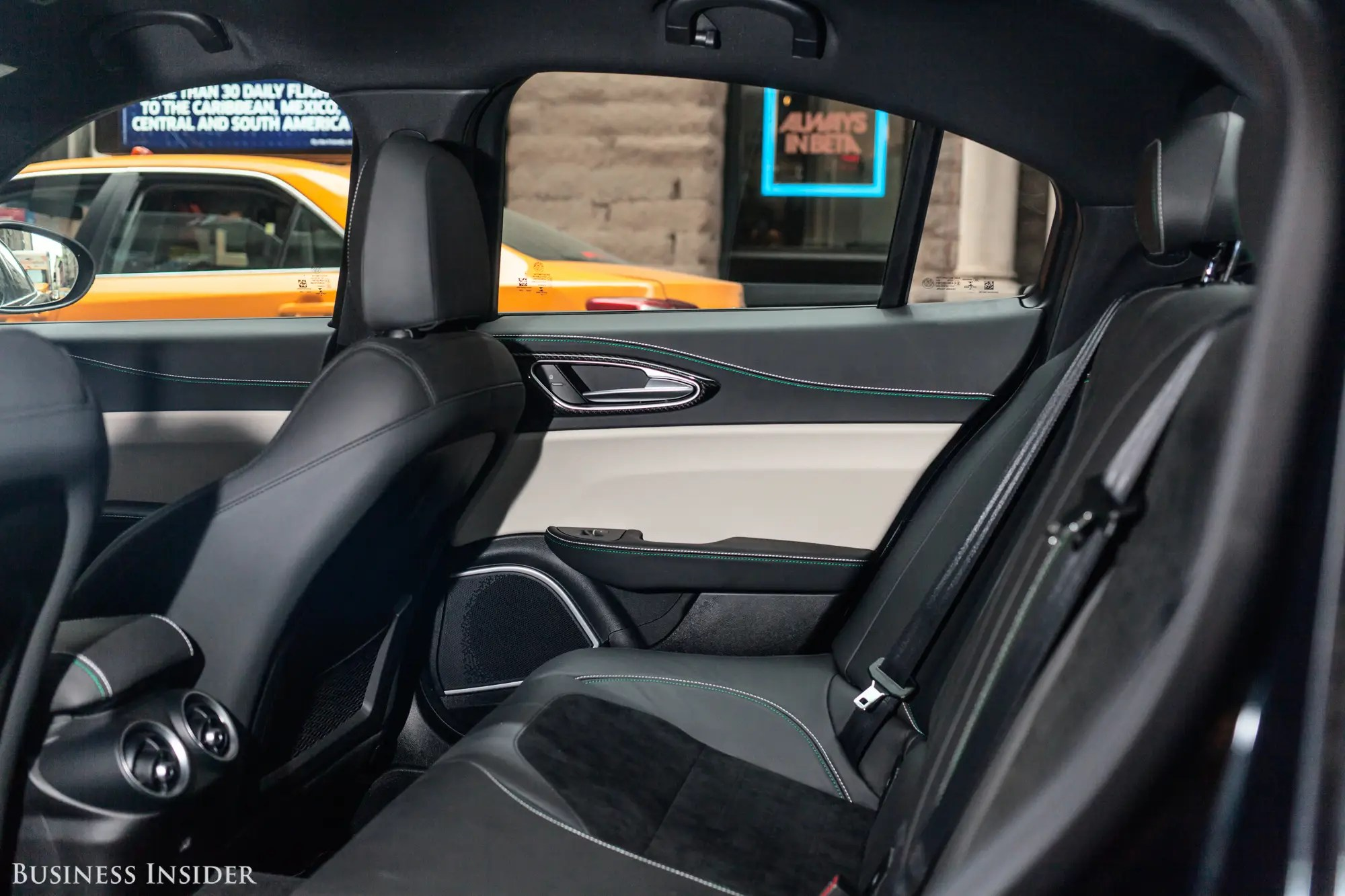 The rear seats are equally comfy, but as with most sports sedans, legroom isn't copious.