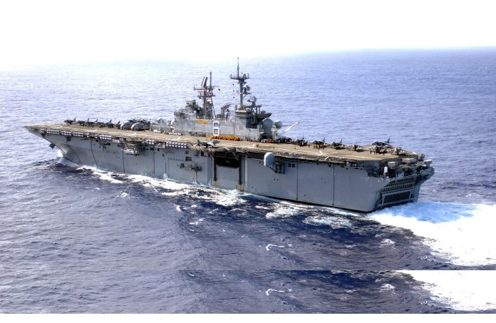 USS Bonhomme Richard (LHD 6) The US has heavy naval power in the Pacific if things break loose with North Korea The US has heavy naval power in the Pacific if things break loose with North Korea usnavy030127 n 1352s 009theamphibiousassaultshipussbonhommerichardlhd 6
