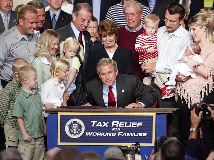 george w bush tax relief Why Democrats and Republicans use different words Why Democrats and Republicans use different words gettyimages 51390526 201