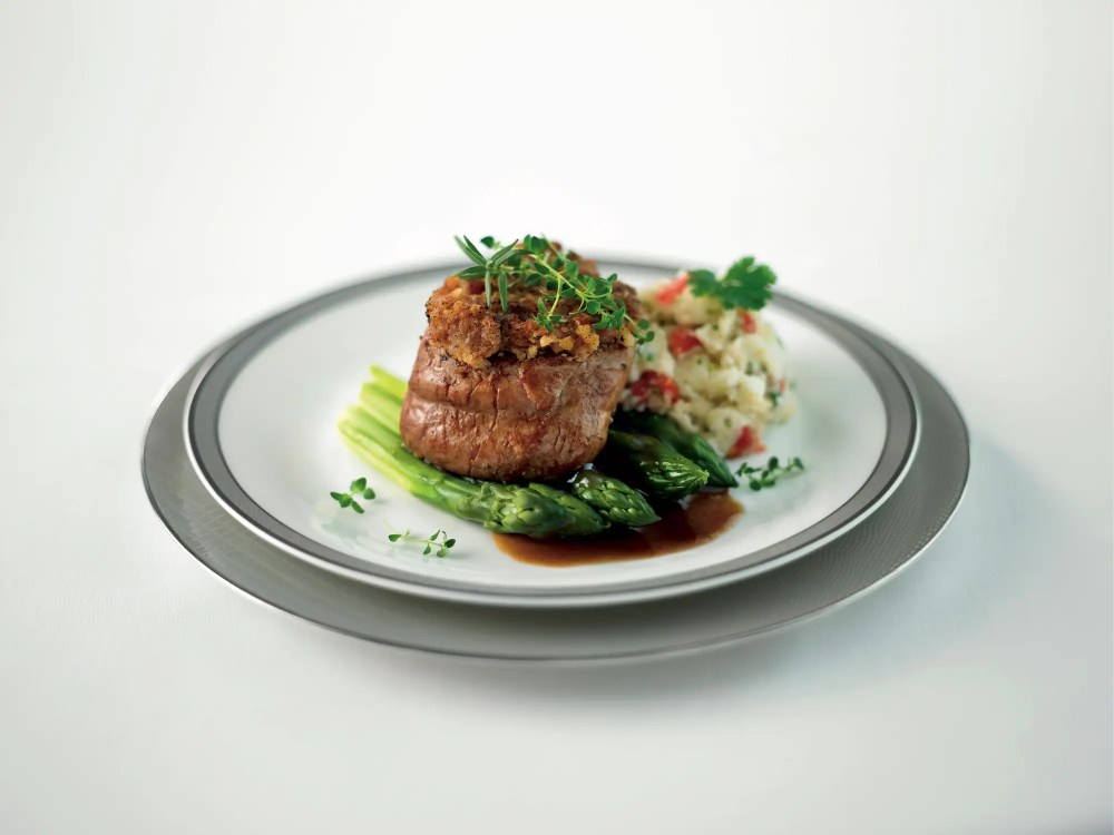 ... This veal filet and...