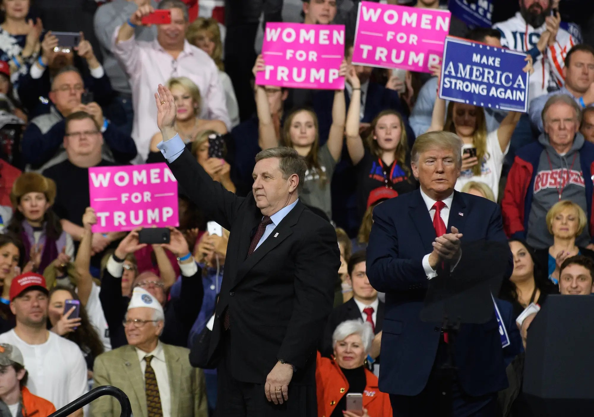 Rick Saccone and Donald Trump