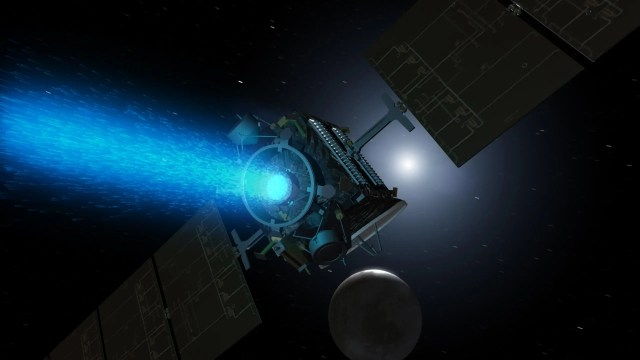 dawn mission asteroid belt ceres dwarf planet ion thruster engine illustration nasa PIA18922_hires
