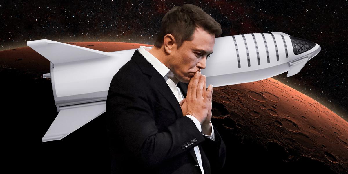 elon musk big falcon rocket bfr spaceship bfs mars mission 2x1