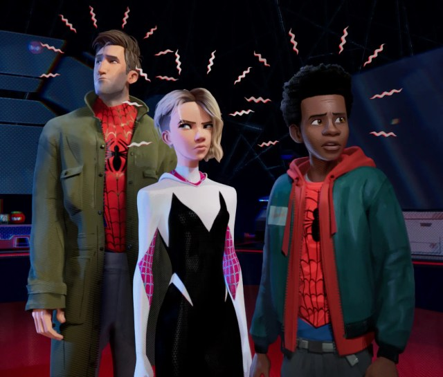 spider man into the spider verse spidey gwen