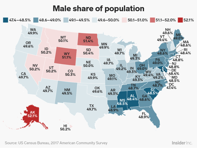 male female state map