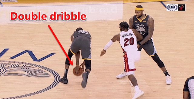 kevin durant double dribble