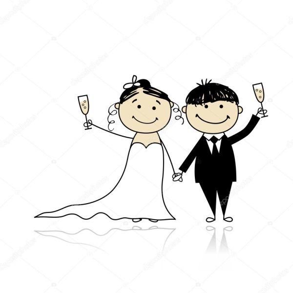 Свадебная церемония - жених и невеста вместе для вашего ...
