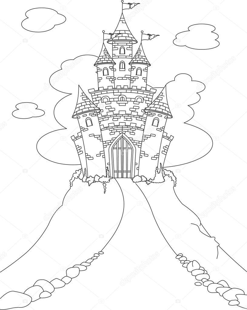 Magic Castle Coloring Page Stock Vector © Dazdraperma 5173940