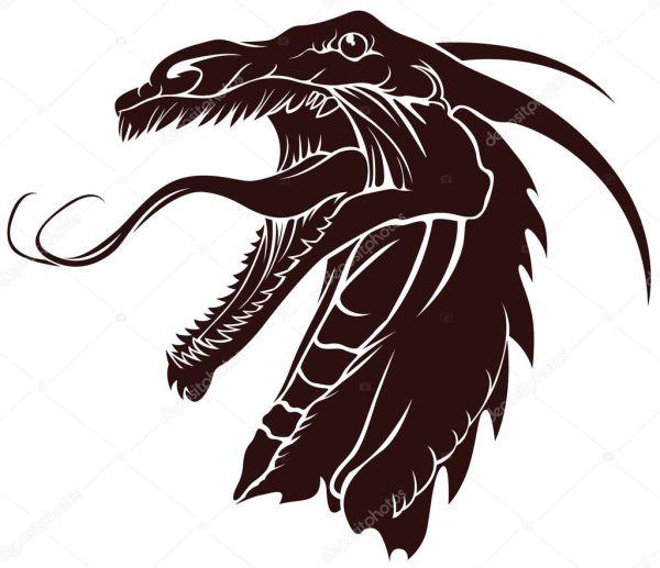 Татуировка драконы Драконы для татуировки Векторное