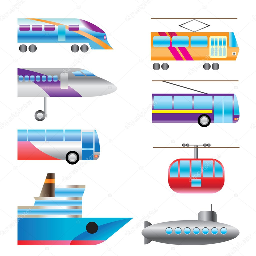 Different Types Of Transportation Icons