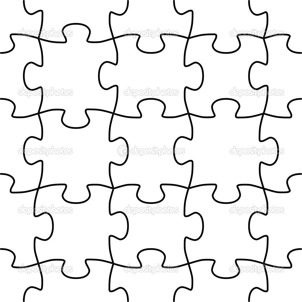 Seamless Vector Puzzle Shape