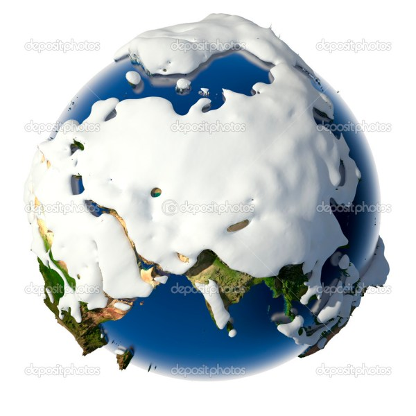 Planet Earth is covered by snow drifts — Stock Photo ...