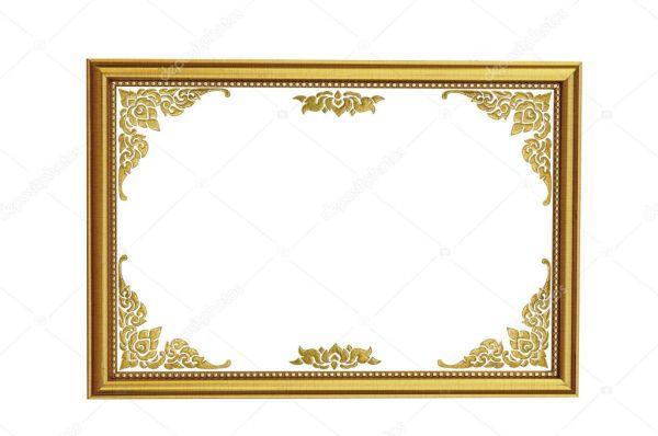 Древний стиль Золотой дерева фото кадр изолированные ...