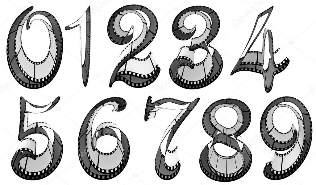 Download Kodak film strip font | Filmstrip font. Numbers pack ...