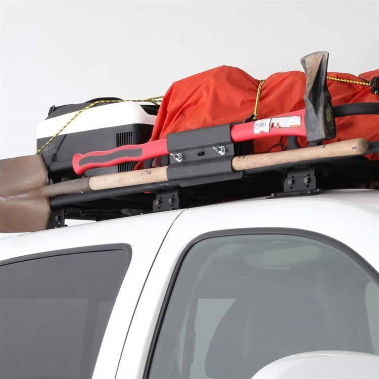 axe shovel mount for roof rack smittybilt