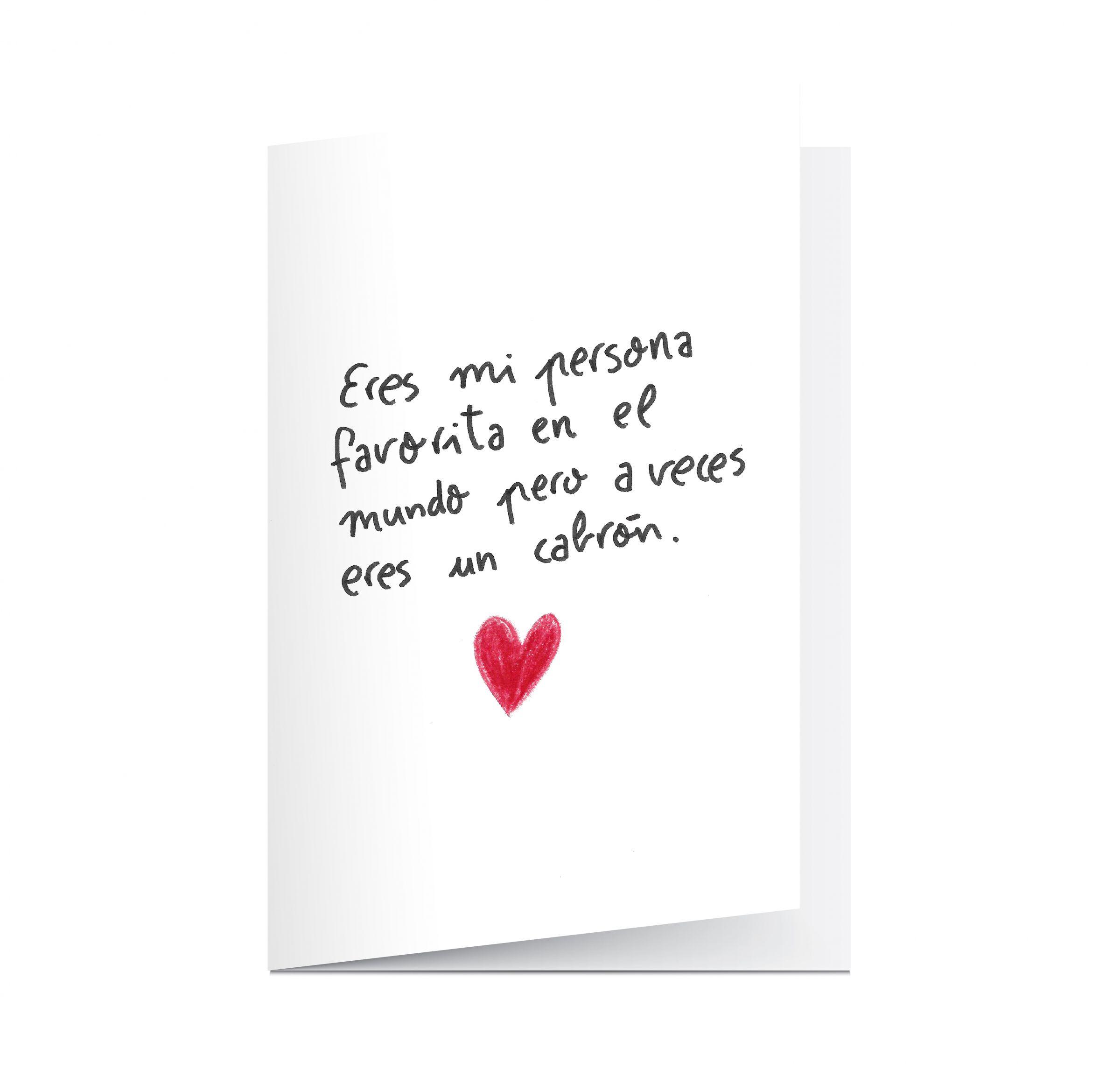 Tarjeta San Valentn Aitor Saraiba Eres Mi Persona