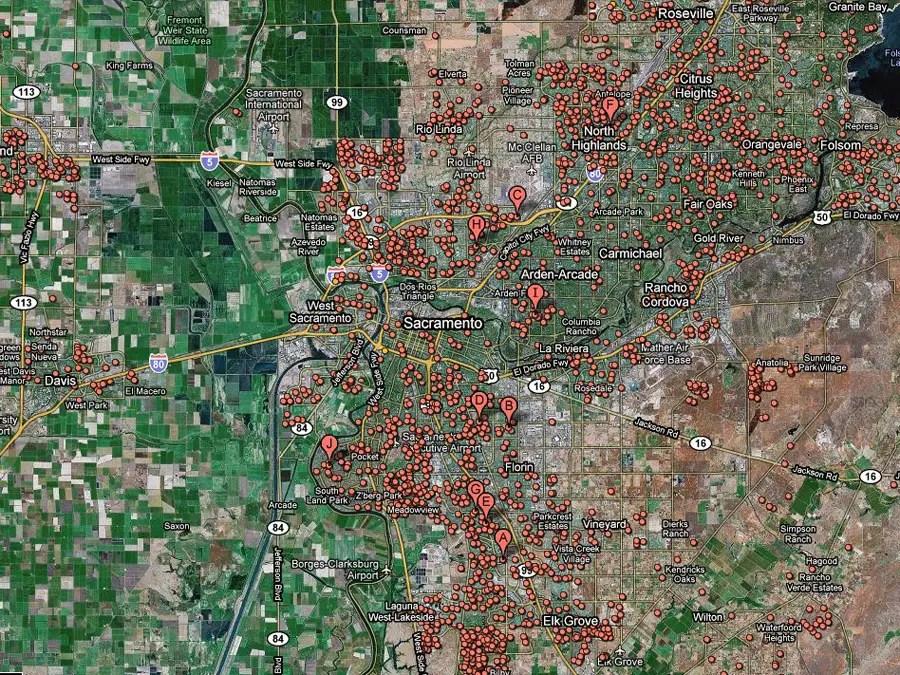 Sacramento, Calif. -- 1 in 19 homes in foreclosure