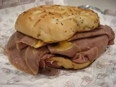 At Arby's, order two junior roast beefs instead of one regular roast beef sandwich.