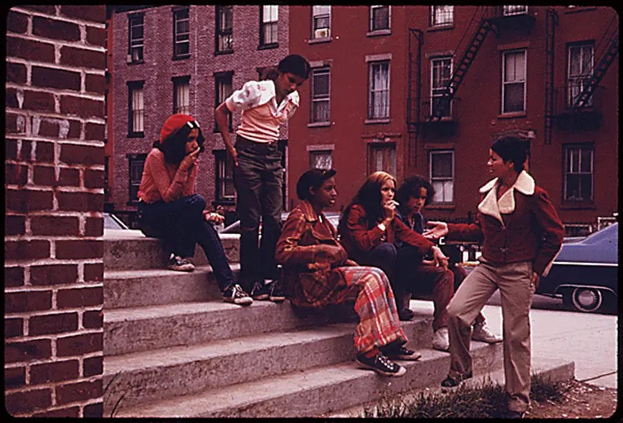 Latin youth at Lynch Park, Brooklyn.