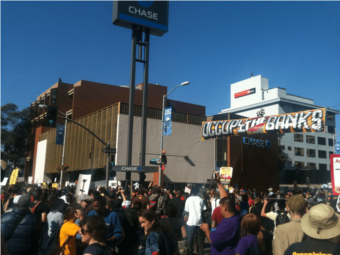 oakland on strike occupy oakland Pictures: Huge Occupy Oakland Crowd Strikes ... Shutting Down Nations 5th Biggest Port