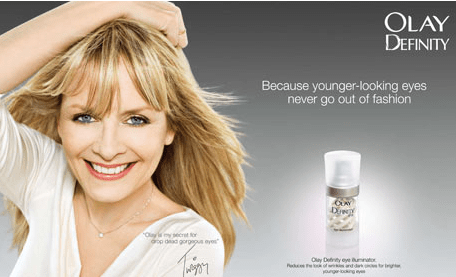As was Twiggy's for Olay.