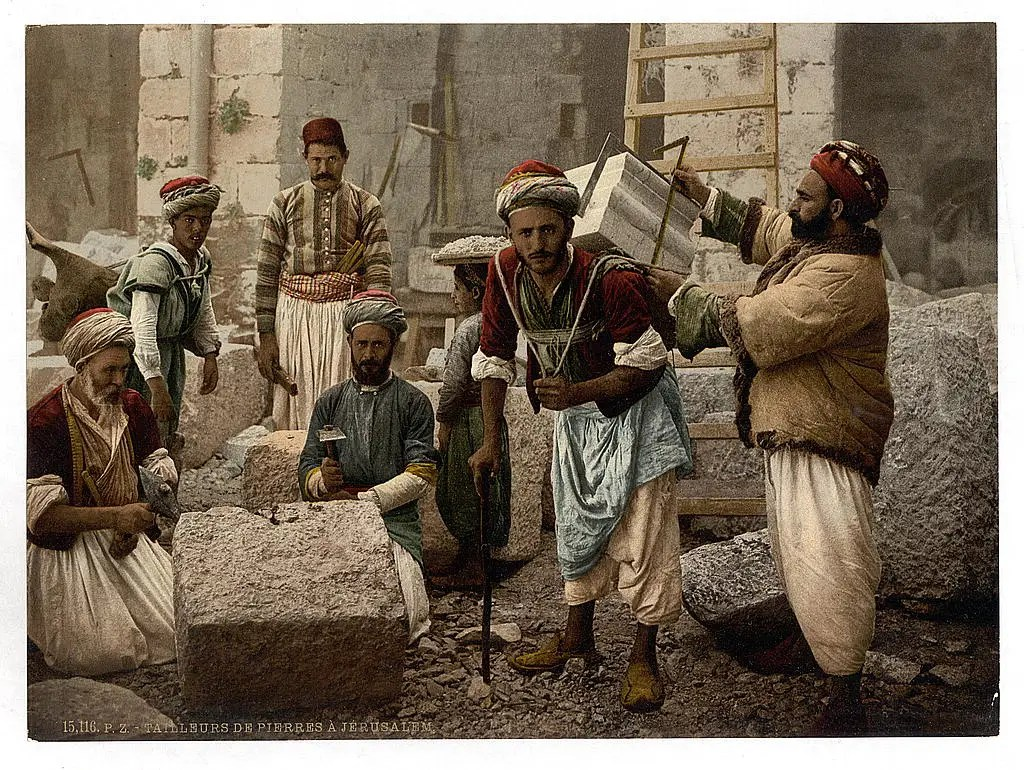 Stone cutters in Jerusalem