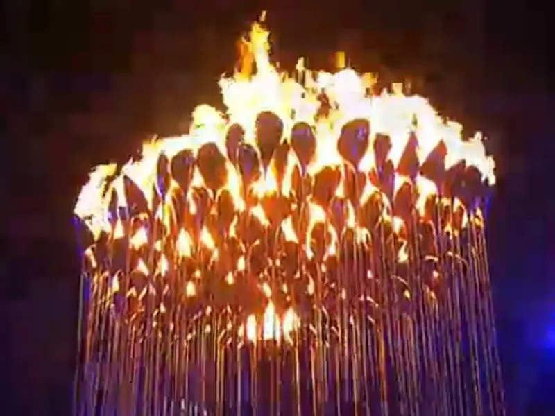 The Olympic cauldron for the London 2012 Games
