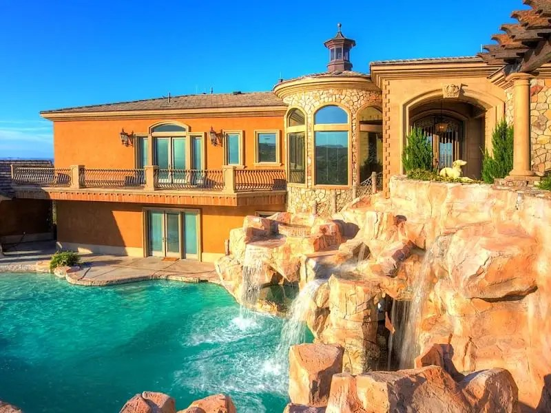 Boulder City $3 million estate with lazy river and water slide