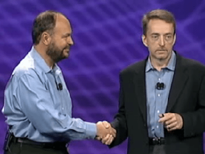 Paul Maritz and Pat Gelsinger, VMware CEOs