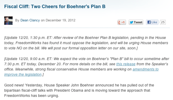 FreedomWorks Boehner